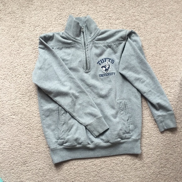 League Collegiate Outfitters Other - Grey Tufts University 1 4-Zip Pullover  - Small 9df617d9a8